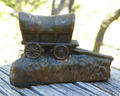 Vintage COPPER COVERED WAGON Western Decor ~ Mid-Century