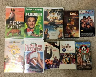 CHILDREN'S VHS MOVIES $2 EACH OR MAKE OFFER