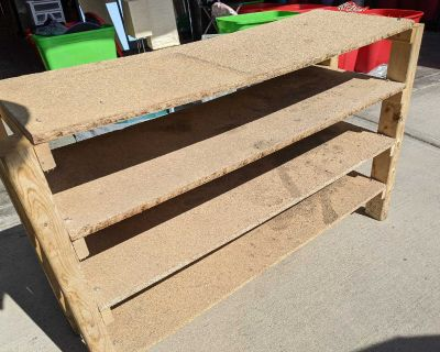 Free! Beautiful Wood Shoe Shelf for pick up in Cooper's Crossing Airdrie
