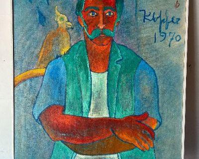 Klopfer Mid Century Artist Estate - Sydney Helfman Paintings, Kosuga, Lane, Summit furniture