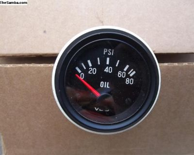 Vintage VDO 80 PSI Oil Pressure Gauge