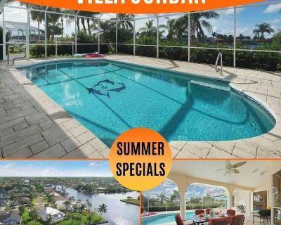 17% OFF! SWFL Rentals - Villa Jordan - Stunning 3 Brm Heated Pool Home Sleeps 6 - Pelican
