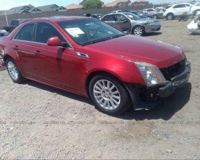 Salvage Red 2011 Cadillac Cts Sedan