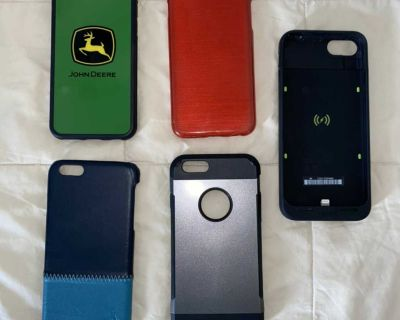 5 IPhone 6 cases including Battery Extender Case