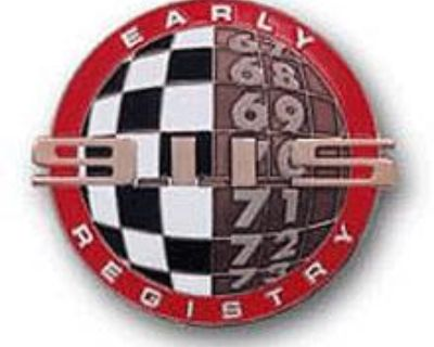 Early Porsche 911S Registry Grill Badge