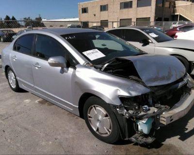 Salvage Silver 2006 Honda Civic Hybrid