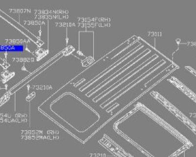 Nissan Roof Rack Cross Rail Mounting Bolt A - 01136-0004u