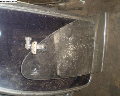Ghia quarter window glass and latch pop outs