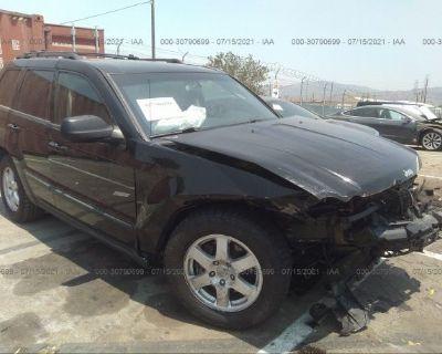Salvage Black 2008 Jeep Grand Cherokee