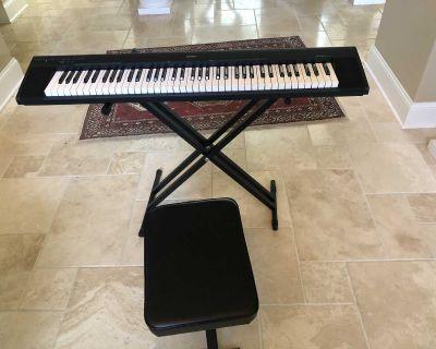 Yamaha 72-key piano keyboard