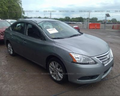 Salvage Gray 2013 Nissan Sentra