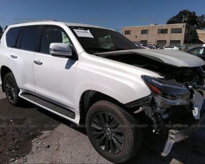 Salvage White 2020 Lexus Gx