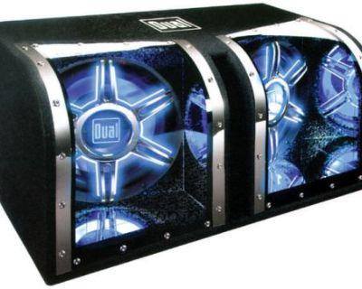 "Subwoofer Box 12"" Chamber;rgb Illumination Dual Bp1204 Woofer Boxes/tube"