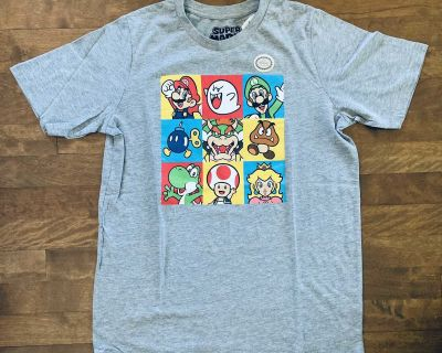 NEW WITH TAGS! Licensed Super Mario Bros. Tee   Size XL (16)