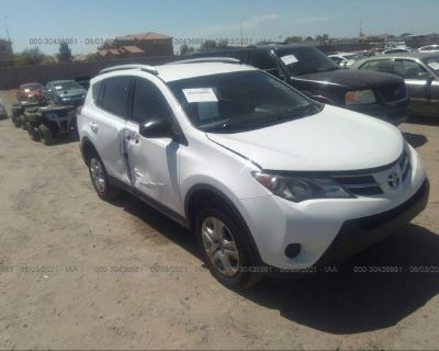 Salvage White 2014 Toyota Rav4
