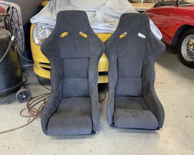 Pair of New Recaro SPG Seats in Alcantara