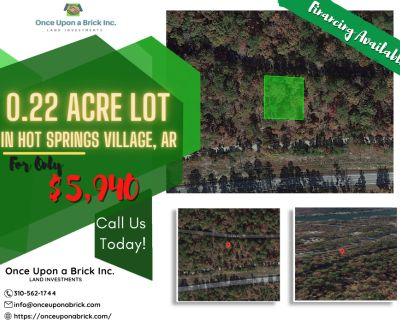 0.22 Acres for Sale in Hot Springs Village, AR