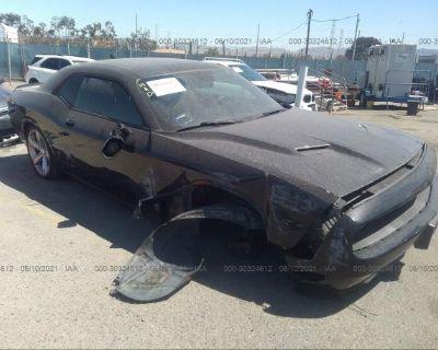 Salvage Black 2016 Dodge Challenger