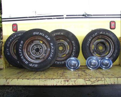 Original Gm 1971 Corvette Rally Wheels. 4 Corvette 1971 Az Rally Wheels 8x15