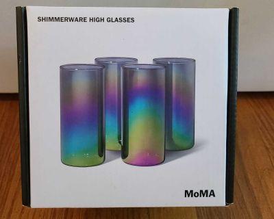 MoMA Shimmerware High glasses set of 4