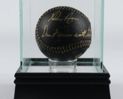 An Official Rawlings Major League Baseball Autographed By NOLAN RYAN