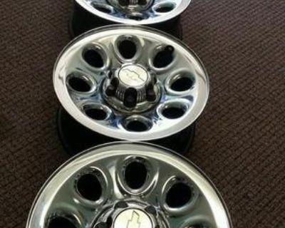"Chevy Silverado / Gmc Sierra 17"" Steel Chrome Wheels Rims"