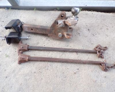 Heavy Duty Hitch with sway bar and mounts
