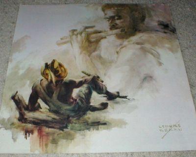 """""""Flutist Dream"""" Art Print by Lenore Beran - Signed - Unframed"""
