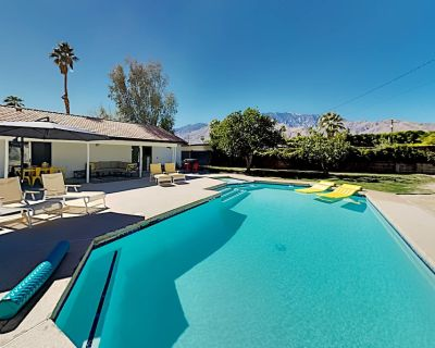 Mountain-View Escape | New Interior | Walled Yard with Pool, Spa, Gas Firepit - Palm Springs