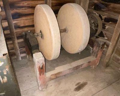 Barn & multi estate sale pic framing tools go cart antiques