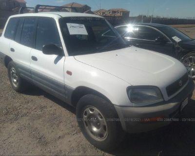 Salvage White 1997 Toyota Rav4