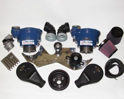 1965-1966 Vintage Shelby Mustang Gt350 Twin Paxton Supercharger Kit Ford 289 Hp
