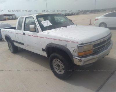 Salvage White 1992 Dodge Dakota