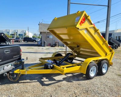 10x2 Dump Trailer Yellow