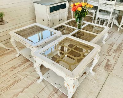Coffee table and pair of end tables