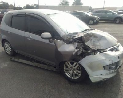Salvage Silver 2007 Honda Fit