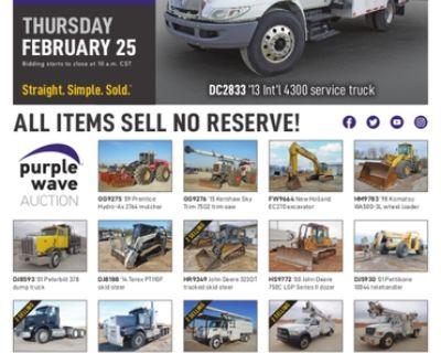 February 25 construction equipment auction
