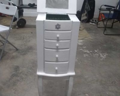Distressed Jewelry armoire