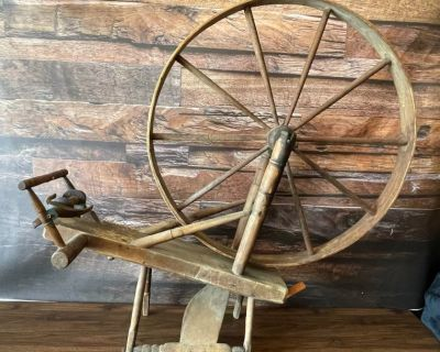 Late 18th Century Flax Spinning Wheel Mostly Complete in Great Condition!!