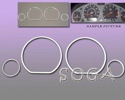 92-98 Bmw E36 Dash Cluster Gauge Trim Ring Rings Chrome 325 328 330 1993 1994