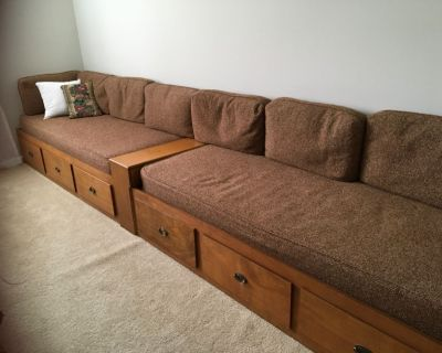 2 mates beds each with 3 storage drawers