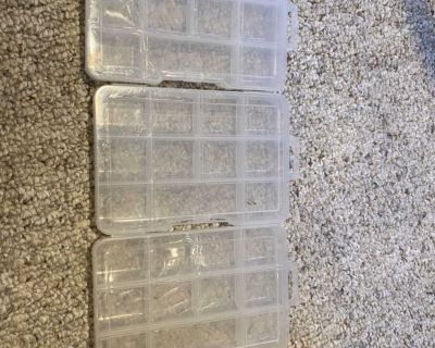 3 small storage containers.