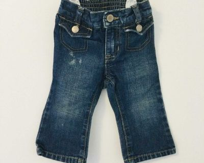 EUC Old Navy Baby Girl Jeans - 6 to 12 Months