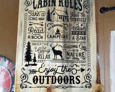 Custom wood burning signs cabin home decor funny gift