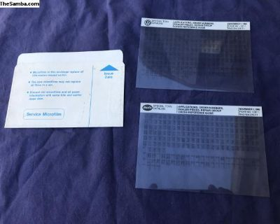 2 Special Tools Microfiche, Small Format