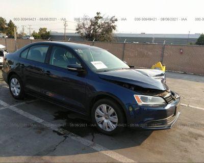 Salvage Blue 2014 Volkswagen Jetta Sedan
