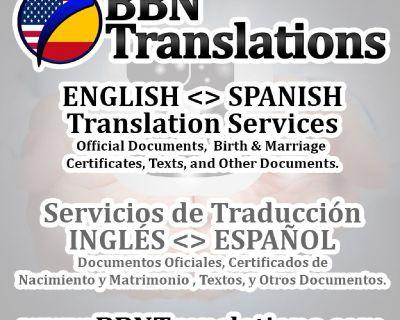 Servicios de Traducción Inglés Español Traducciones Certificadas