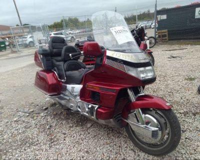 Salvage Red 1993 Honda Gl1500