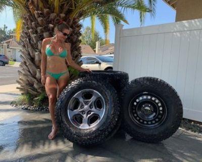 "California - SoCal '21 Rubicon wheels/tires 33"" Falken MT's ~2K Miles"