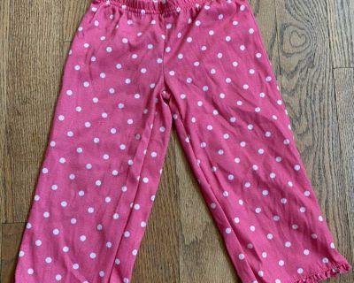 Pink polka dot pants, size 3t